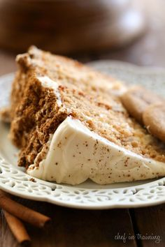 Gingersnap Spice Cake from chef-in-training.com ...this cake is AMAZING! 4 layers of perfection! Types Of Desserts, Just Desserts, Delicious Desserts, Dessert Recipes, Yummy Food, Cupcake Recipes, Dessert Ideas, Cake Ideas, Baking Recipes