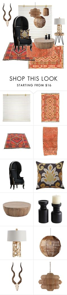 """Tribal interior #2"" by mscrn-info on Polyvore featuring interior, interiors, interior design, дом, home decor, interior decorating, Pottery Barn, Arteriors, Selamat Designs и Palecek"