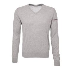 Moncler Pullover in Grau Moncler, Pullover, Sweatshirts, Sweaters, Men, Fashion, Cotton, Moda, Fashion Styles