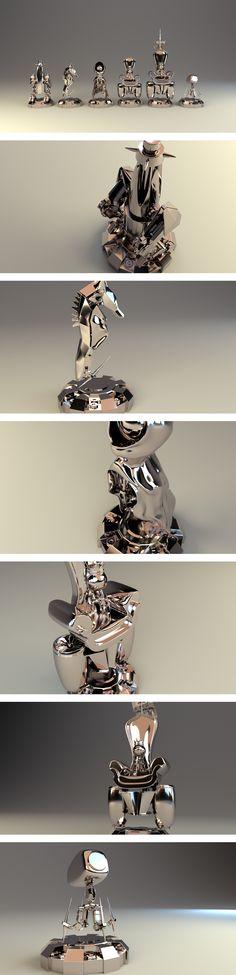 Robotic | Chess Set Design on Behance