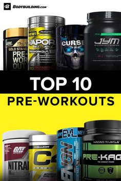 Pre-workout supplements are designed to support increased energy, focus, and endurance in the gym. When you feel like hitting the hay instead of the gym, grab one of these top selling, high quality pre-workouts to get moving and destroy your workout.