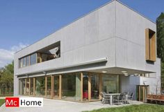 Mc-home.nl Eternit Equitone tectiva moderne gevelbekleding staalframebouw energieneutraal