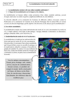 La mondialisation et la diversité culturelle – Cours – 4ème – Géographie - Pass Education