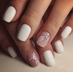 White nails•dream catch & feather ❤