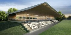 Stadium Architecture, Roof Architecture, Clubhouse Design, Civil Engineering Construction, Horse Arena, Soccer Stadium, Property Design, Club Design, Outdoor Decor