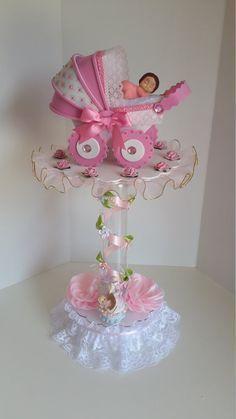 Rosa Centro De Mesa Para Baby Shower