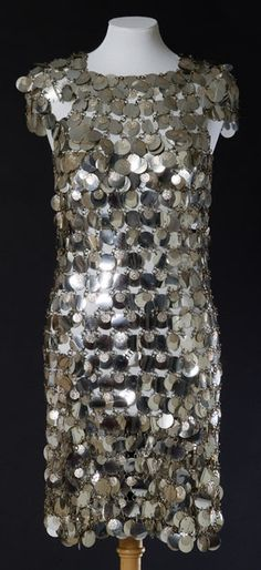Plastic chain mail dress, made by Paco Rabanne, about 1966 /br © CSG CIC