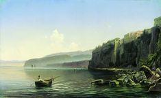 Берег моря (Сорренто). 1850-е. Боголюбов Алексей Петрович
