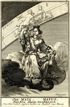 a2c589faf May is named after the Greek goddess Maia, shown here in this 1698 print.
