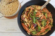 Thai Kylling med karry og kokos Karry, Lchf, Ethnic Recipes, Food, Spinach, Essen, Yemek, Meals