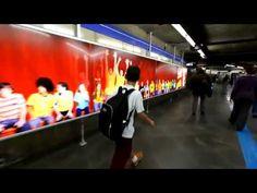 Une ola dans les couloirs du métro de São Paulo organisée par Coca Cola. Extrêmement simple et efficace !