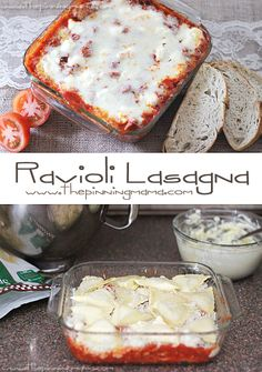 Easy + delicious = the perfect weeknight recipe! Making it this week! Easy Ravioli Casserole!