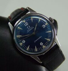 VINTAGE 60 S OMEGA SEAMASTER AUTO BLUE DIAL,CAL:552 MAN S WATCH
