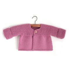 Rebeca de punto de bebé – Pink Lady