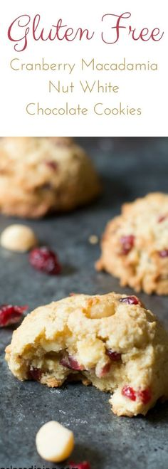 These gluten free macadamia nut white chocolate chip cookies are a delicious cookie recipe. Watch how easy these cookies are to make in this fun tasty style cooking video. Gluten free cookie recipe. How to make gluten free cranberry cookies. Easy gluten free macadamia nut cookies. via @fearlessdining