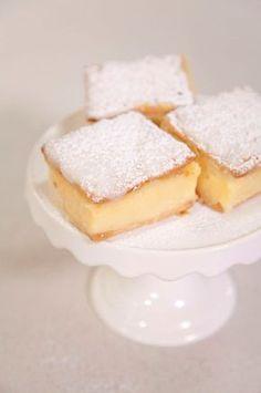 Vanilla custard slices!!! Made with cream crackers and custard powder -!