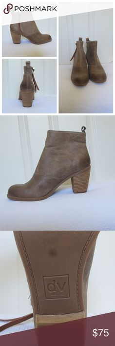 Dolce Vita Brown Booties, NWOT, 9.5 NWOT, 9.5 but can fit a 9, Great Brown Color, Zipper Closure Dolce Vita Shoes Ankle Boots & Booties
