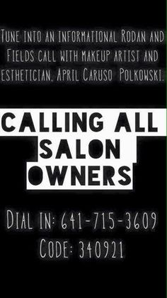 Rodan + Fields Opportunity Call for Salon and Spa Owners