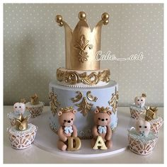 Cake Decorating Ideas For Boys Teddy Bears 66 Ideas For 2019 Baby Cakes, Baby Boy Cupcakes, Cupcakes For Boys, Girl Cakes, Teddy Bear Birthday Cake, Boys 1st Birthday Cake, Cute Birthday Cakes, Teddy Bear Cakes, Teddy Bears