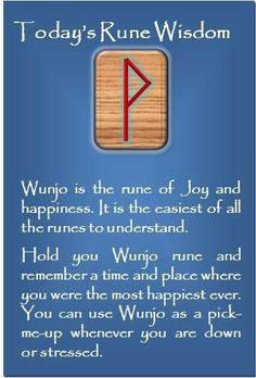 Wunjo - the rune of joy and happiness
