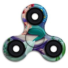Cheap price ALEJANDRO VALADEZ Little Mermaid Disney Unique Hand Tri-Spinner Fingertip Gyroscope Hand Fidget Spinner With Smooth Finished Best Stress Reducer Toy For Killing Time Kids