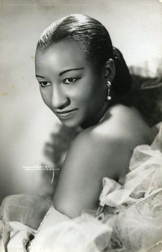 This is an authentic cuban photo from the 1950s period. This photo shows the legendary cuban singer Celia Cruz .This awesome photo was taken by cuban photographer Narcy the favorite of Celia Cruz .