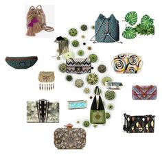 """Mosaic Purses - Do your damage!"" by belle-melange on Polyvore featuring The Row, Nathalie Trad, Salvatore Ferragamo, Kavu, Chanel, White House Black Market, Rafe, Urbiana, NOVICA and LOVE Binetti"