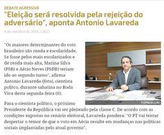 """""""Eleição será resolvida pela rejeição do adversário"""", aponta Antonio Lavareda . http://www.conjur.com.br/2014-out-09/rejeicao-definira-eleicao-cientista-politico-antonio-lavareda?utm_source=dlvr.it&utm_medium=facebook"""