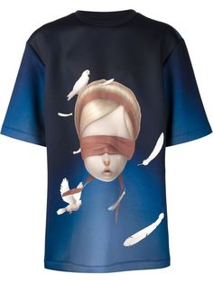 Juun.j Oversized-t-shirt Mit Gesichts-print - Henrik Vibskov Boutique - Farfetch.com