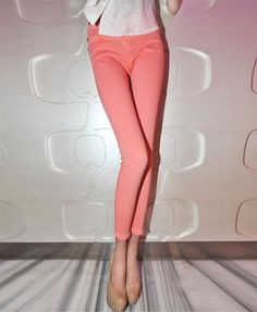 Charming Pink Cropped Skinny Jeans