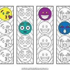Printable Zentangle Bookmarks – Web page 3 – Scribble & Sew - emoji, smile, s. Emoji Coloring Pages, Printable Coloring Pages, Coloring Sheets, Coloring Books, Colouring, Emoji Bookmarks, Printable Bookmarks, Surprised Emoji, Emoji 1