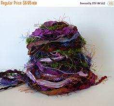 SALE SECRET PIXIE Barrow Adornment Fiber Art Bundle, Specialty Yarn Embellishment,  24 yards