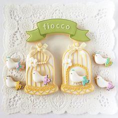 bird w/ birdcage cookies