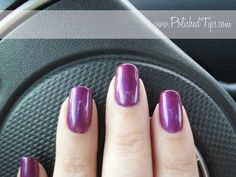 Polished Tips: Shellac: Hot Chilis over Purple Purple on natural nails