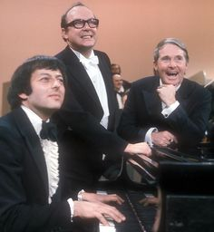 Andre Previn, Eric Morecambe and Ernie Wise .....all the right notes, but not necessarily in the right order