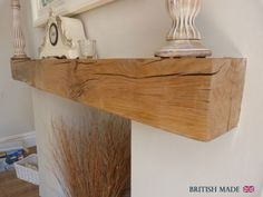 SOLID-OAK-BEAM-FLOATING-SHELF-MANTLE-AIR-DRIED-RECLAIMED-FREE-DELIVERY