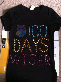 100 day of school shirt ! 100 Day Of School Project, 100 Days Of School, School Fun, First Day Of School, School Projects, School Ideas, Dad To Be Shirts, Shirts For Girls, 100s Day