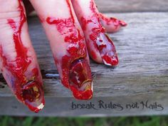 Halloween bloody nails....