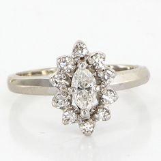 vintage marquise cut diamond