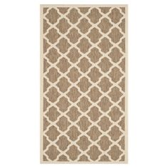 Equally at home in the foyer or on your patio, this loomed indoor/outdoor rug anchors any space with an eye-catching Moroccan-inspired trellis motif.