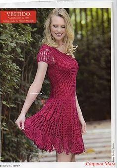 Очень красивое эффектное летнее платье не оставит равнодушными окружающих и порадует вас летними денечками. Платье найдено на просторах интернета, описание не на русском, но есть схемки.