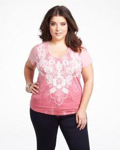 #AdditionElleOntheRoad  floral dip dye t-shirt  Shop Online at Addition Elle