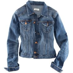 H&M Denim jacket ($36) ❤ liked on Polyvore featuring outerwear, jackets, tops, coats, button jacket, blue jackets, h&m, h&m jackets e blue jean jacket