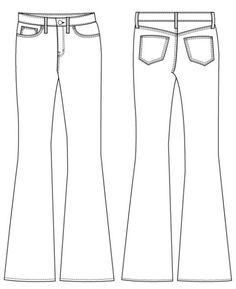 Birkin Flare Jeans Sewing Pattern by Baste + Gather