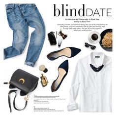 """""""Blind Date"""" by dian-lado ❤ liked on Polyvore featuring Banana Republic, Cole Haan, D&G, Stila, women's clothing, women, female, woman, misses and juniors"""