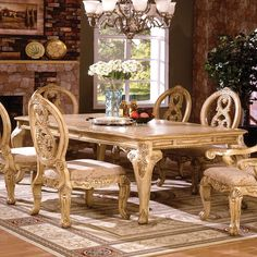 Tuscany II Dining Table (Antique White). White Dining RoomsFormal ...