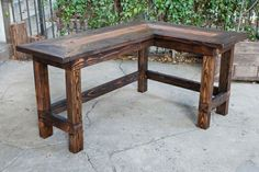 Amusing Rustic Office Desk Wow This Would Look Great In An Office Rustic L Shaped Desk From - Office Desk - Ideas of Office Desk Rustic Office Desk, Rustic Desk, Home Office Desks, Home Office Furniture, Furniture Stores, Farmhouse Office, Industrial Office, Kitchen Furniture, Loft Furniture