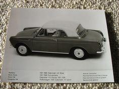 "Ultra rare VW 1500 Cabriolet...    Less of a ""Notchback"" more a ""Flatback""  ;-)"