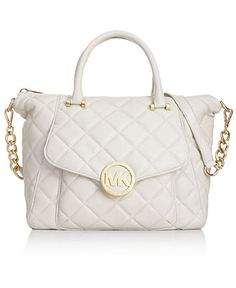 MICHAEL Michael Kors Handbag, Fulton Quilt Large Satchel - Shop All - Handbags & Accessories - Macy's
