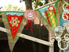 Riley Blake has a panel with this fun fabric preprinted to use to design a fancy garland of your dreams!